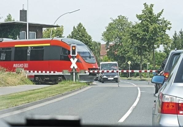 Image of level-crossing, where measurement sensors can be placed to provide advance warning to trains about vehicle trespassers.