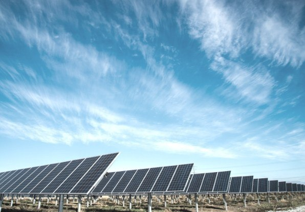 Image of a solar farm where full situational awareness would be required.