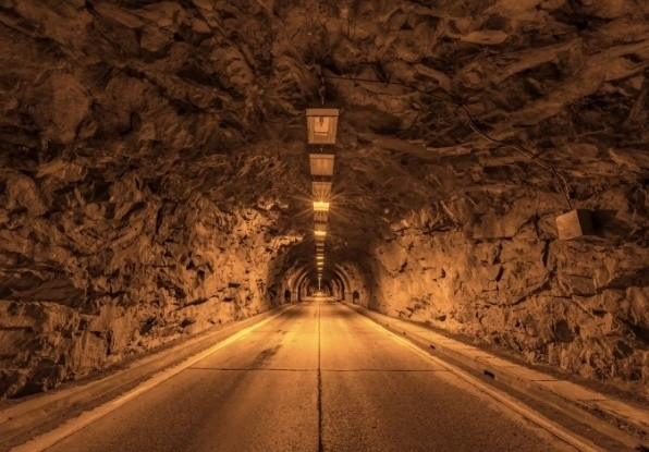 Image of a tunnel which would require situational awareness.