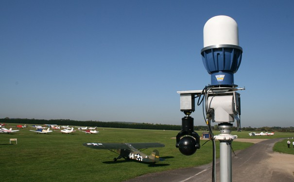 photo of security system at airfield IWM Duxford Expo