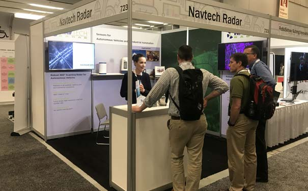 photo of Navtech Radar ICRA 2019 marketing event