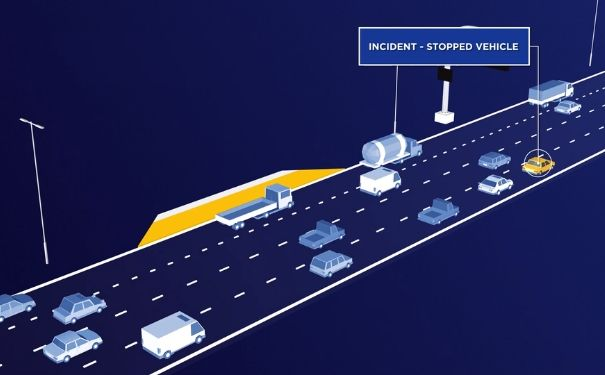 Screenshot from stopped vehicle detection animation video