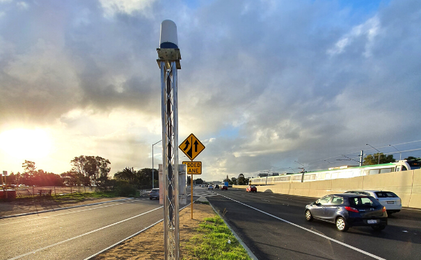 CTS Radar installed on Kwinana Freeway in Perth
