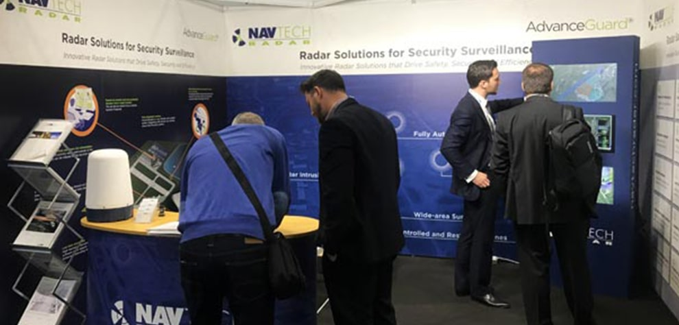 photo of Navtech at passenger terminal expo event